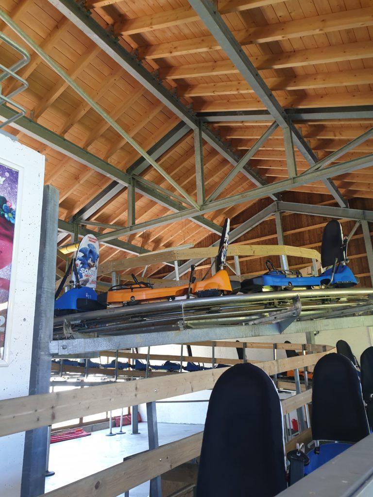 gare de départ des luges les saisies Mountain Twister