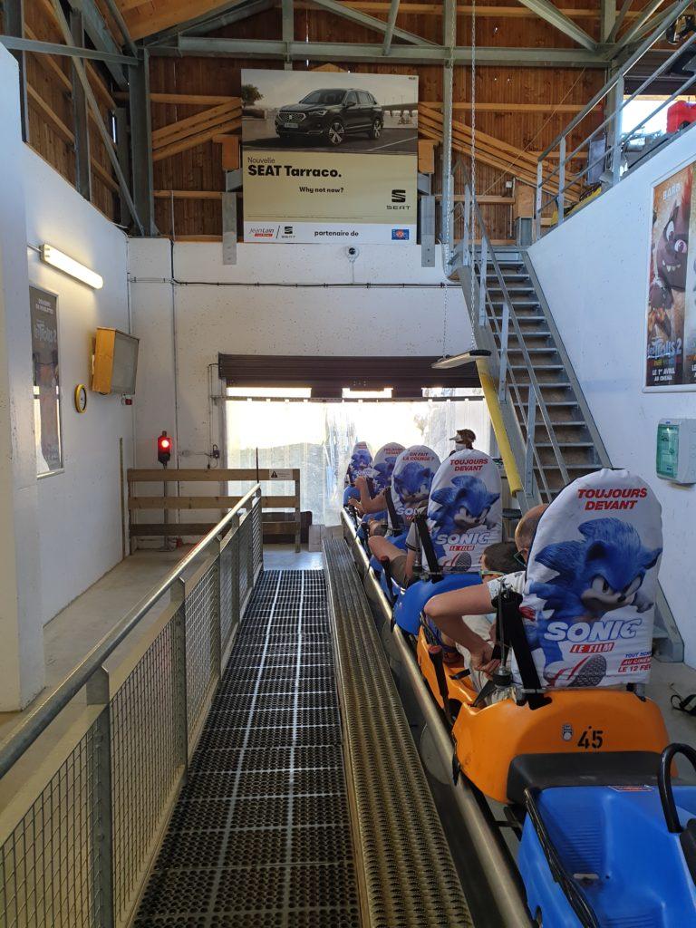 gare de départ Mountain Twister les saisies savoie