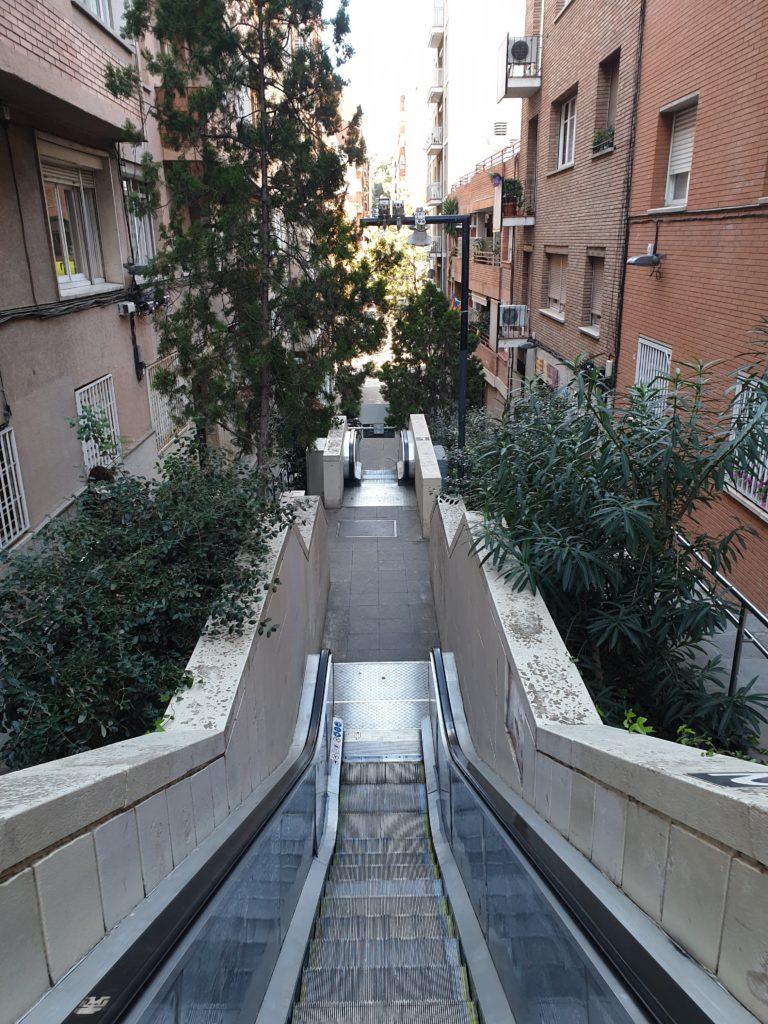escalators coté métro Vallcarca