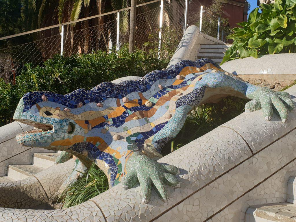 dragon polychrome parc Guell