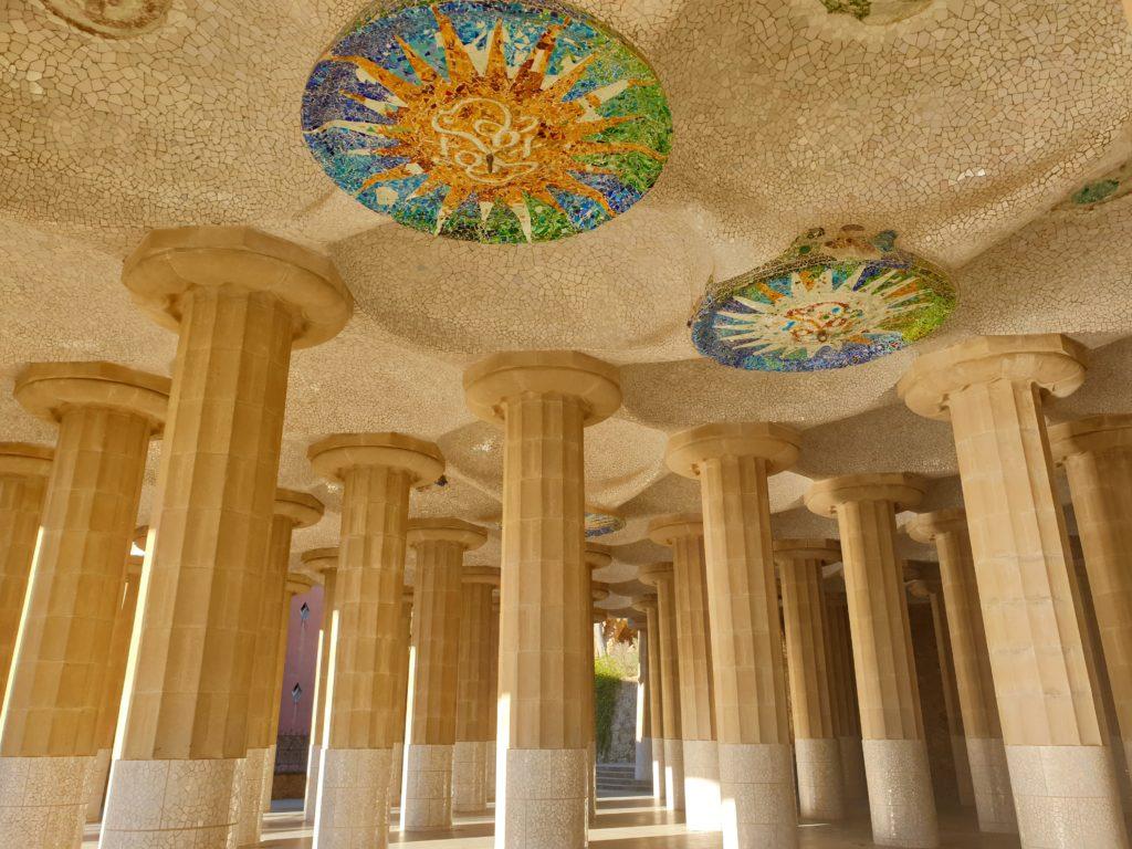 foret colonnes doriques parc Guell