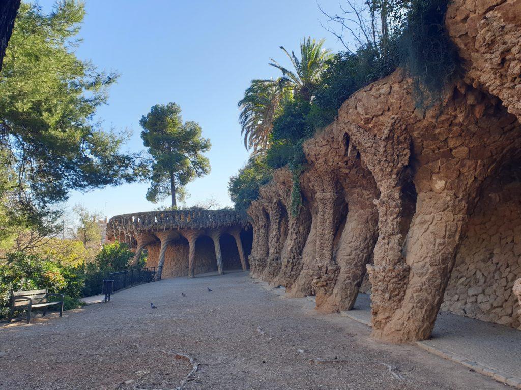 portique de la Lavandière parc Guell Barcelone