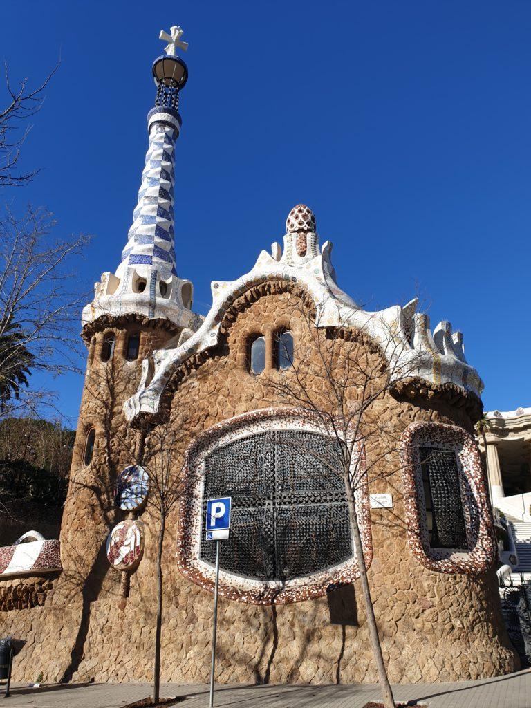 pavillon entrée parc Guell