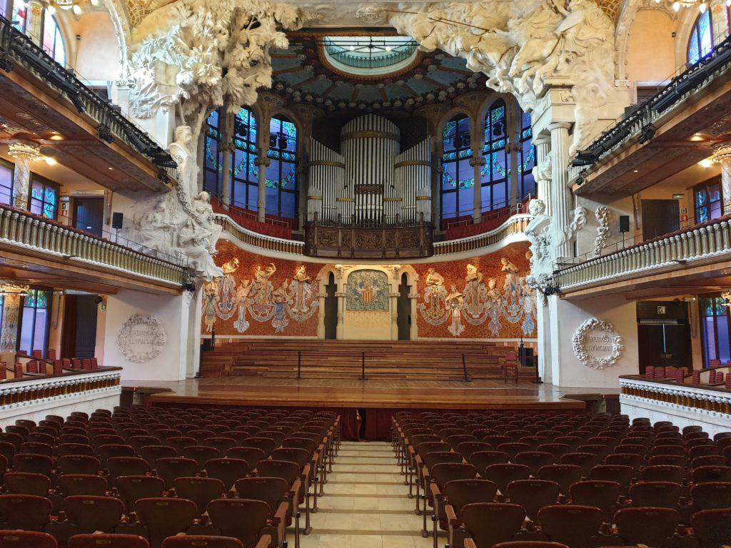 palais de la musique Catalane Barcelone salle de concert